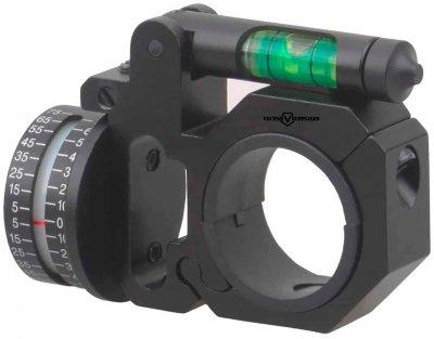 Кільце Vector Optics з кутоміром і рівнем 25.4 мм (D1120)