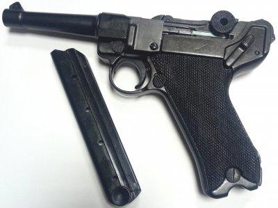 Макет пістолета Denix Парабелум Люгер подовжений 22.5 см (01/1143)