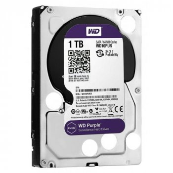 Жесткий диск WD Purple Surveillance Hard Drive 10PURZ - Festplatte - 1 TB - inte (WD10PURZ) Новое