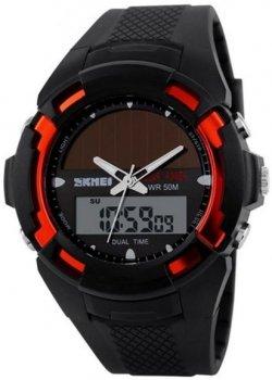 Чоловічий годинник Skmei 1056 Black-Red BOX (1056BOXBR)