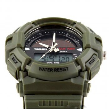 Чоловічий годинник Skmei 1050 Army Green BOX (1050BOXAG)