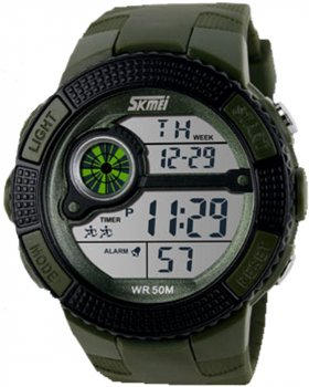 Мужские часы Skmei 1027 Army Green BOX (1027BOXAG)