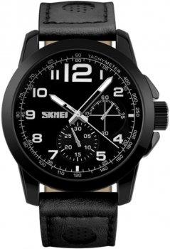 Мужские часы Skmei 9111 Black BOX (9111BOXBK)