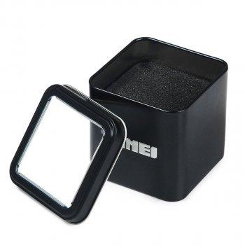 Мужские часы Skmei 9103 White Dail Black Strap BOX (9103BOXWBKS)