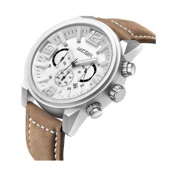 Мужские часы Megir Silver White Brown MG3010 (ML3010GBN-7)