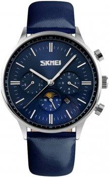 Мужские часы Skmei 9117 Silver case blue dail BOX (9117BOXSBL)
