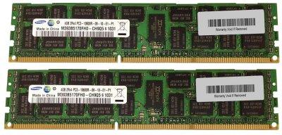 Оперативна пам'ять Fujitsu DDR3-RAM 8GB Kit 2x4GB PC3-10600R ECC 2R (S26361-F4003-R624) Refurbished