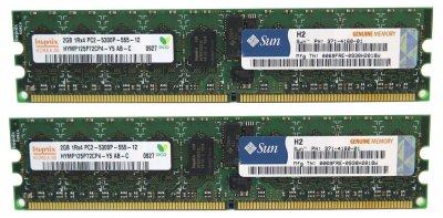 Оперативна пам'ять Sun Microsystems DDR2-RAM 4GB Kit 2x2GB PC2-5300P ECC 2R (371-4160) Refurbished