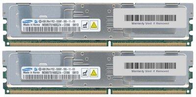 Оперативна пам'ять Fujitsu DDR2-RAM 8GB Kit 2x4GB PC2-5300F ECC 2R (S26361-F3263-L624) Refurbished