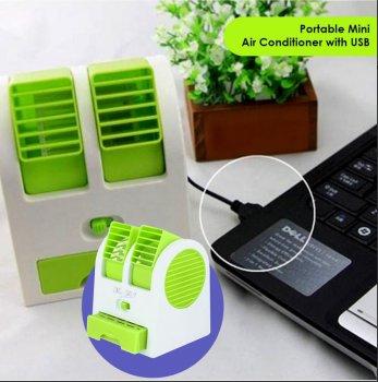 Вентилятор настільний Mini Fan з ароматизованими кульками Зелений (MY-0199)