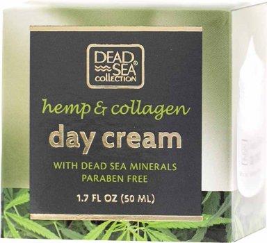 Дневной крем Dead Sea Collection с экстрактом конопли, коллагеном и минералами Мертвого моря 50 мл (7290102259694)