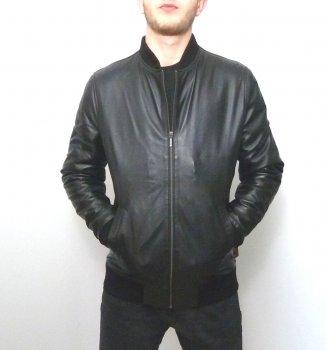 Чоловіча куртка Eleganza з натуральної шкіри. Модель GREY