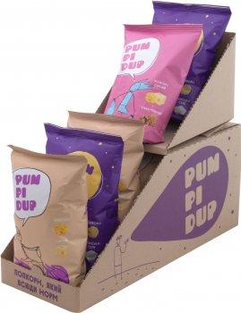 Упаковка попкорну Pumpidup 3 смаки (сир, сіль, карамель з сиром) 90 г х 7 шт. (4820223990096)