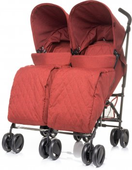 Прогулянкова коляска для двійнят 4Baby Twins Red (4TW03)