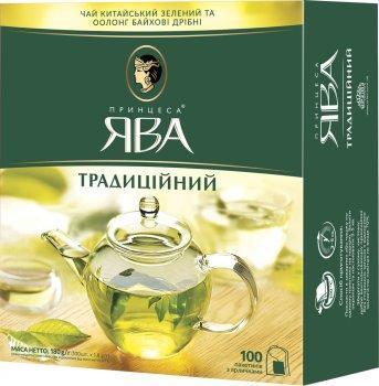 Чай зелений пакетований Принцеса Ява Традиційний 100 х 1.8 г (4823096806280)