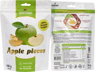 Упаковка скибочок яблучних Spektrumix 2 шт. х 100 г (2000000845326)