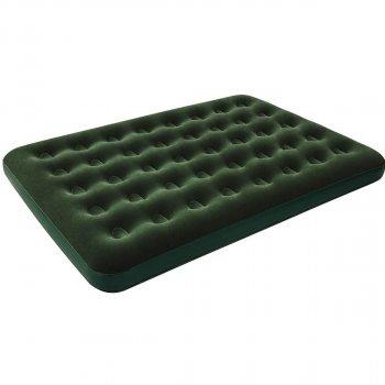 Надувной флокированный полуторный матрас Pavillo Bestway 67448 Flocked (137x191x22) зеленый (it-67448)
