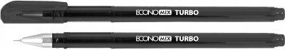 Набор гелевых ручек Economix Turbo 0.5 мм Черный 12 шт (E11911-01)