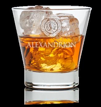 Міцний алкогольний напій Alexandrion 7* 0.7 л 40% в коробці + 2 склянки (5942122001402)