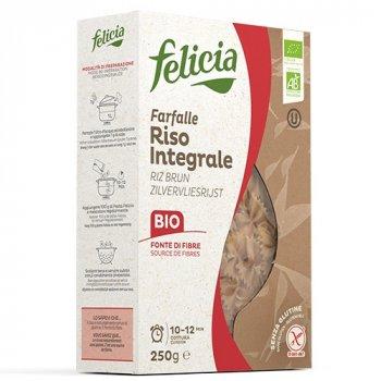 Органічна паста Felicia з коричневого рису Farfalle (100% борошно коричневого рису) 250 г