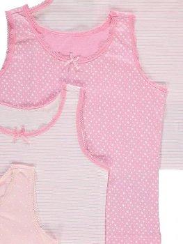 Майка (5 штук) для девочки George Р0038 Белый, розовый (P-6910806230164)