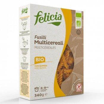 Органічна паста Felicia мультизлакова Fusilli (75% кукурудза, 10% рис, 10% гречка, 5% кіноа) 340 г