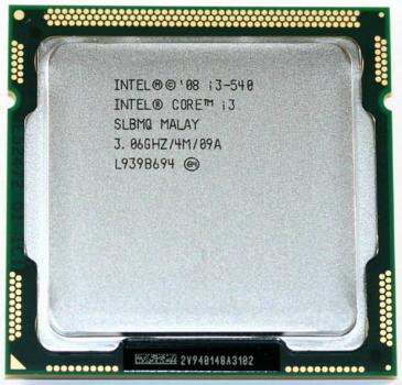 Б/У, Процесор, Intel Core i3-540, LGA1156, 4х3.06GHz, 4 потоку, 4 МБ, 1333 Mhz, s1156