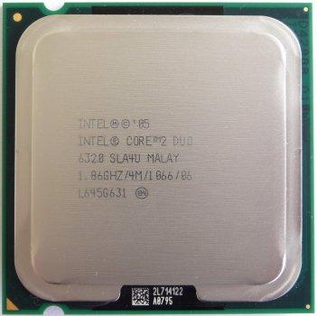 Б/У, Процесор, Intel® Core™2 Duo E6320, 4 МБ, 1.86 GHz, 1066 GHz