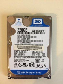 """Б\У Жорсткий диск для ноутбука, 2.5"""", SATA, 320GB, WD AV-25, WD3200BUCT"""
