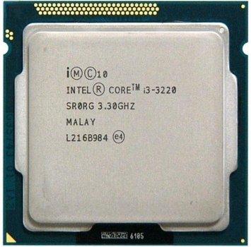 Б/У, Процесор, Intel Core i3-3220, s1155, 4x3.3GHz, 4 потоку, 5GTs, 3MB, 55 Вт, BX80637I33220