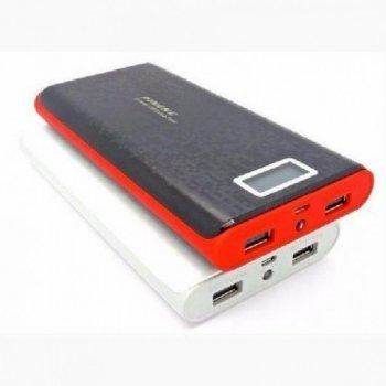 УМБ зарядний Power Bank Pineng 40000 mAh +LCD-екран зовнішній акумулятор чорний