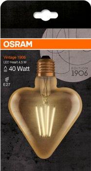 Світлодіодна лампа Osram 1906 FILAMENT GOLD серце 4.5 W (470 Lm) 2500 K E27 (4058075092099)
