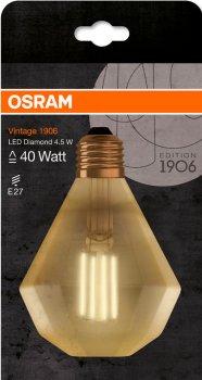 Світлодіодна лампа Osram 1906 FILAMENT GOLD діамант 4.5 W (470 Lm) 2500 K E27 (4058075091955)
