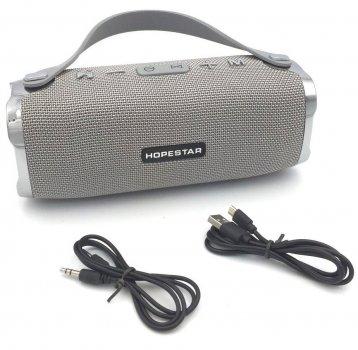 Портативна акустична Bluetooth колонка Hopestar H24 (Сірий)