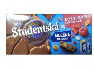 Шоколадка Studentska s Chuti Malin 180 g