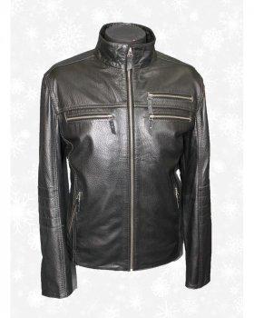 Куртка чоловіча шкіряна Verona 126 Чорний