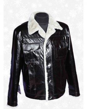 Куртка кожаная с мехом мужская Verona 36_3 Черный
