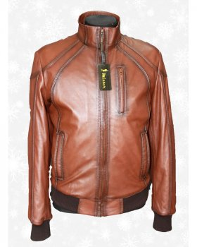 Куртка чоловіча шкіряна Verona 97 Коричневий
