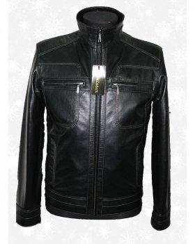 Куртка шкіряна чоловіча Verona 50_2 Чорний