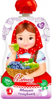 Упаковка пюре Аленка Любит Яблуко-Лохина 90 г x 12 шт. (14813163004197)