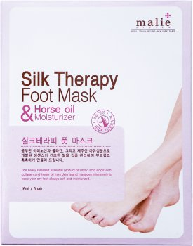 Маска-носки для ног Malie Silk Therapy Foot Mask with Horse Oil Moisturizer Mask Pack 16 мл (8809409850542)