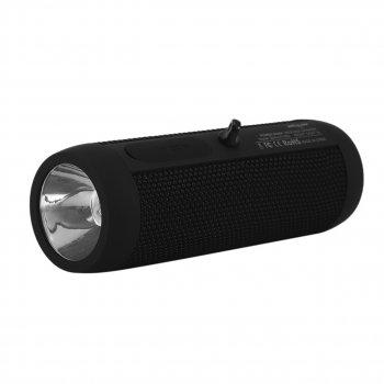 Портативна бездротова колонка ZEALOT S22 Black з вбудованим ліхтариком Повер банк захист IP65