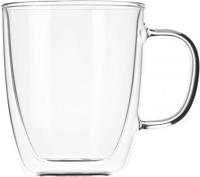 Набор чашек с ручками Ardesto с двойными стенками для латте 400 мл х 2 шт (AR2640GH)