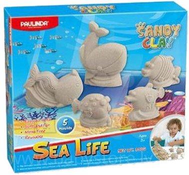 Песок для творчества Paulinda Sandy clay Морская жизнь 5 единиц 300 г (PL-140016)