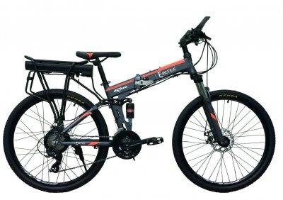 "Электровелосипед складной E-motion 36V 12Ah 500W / алюминиевая рама 17"" серо-оранжевый (ESE3612500A17SO)"
