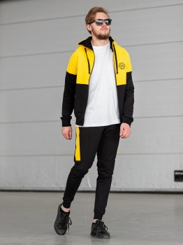 Чоловічий спортивний костюм BERSENSE DOUBLE жовтий, M