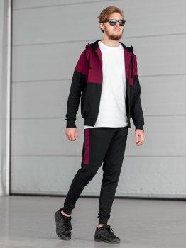 Чоловічий спортивний костюм BERSENSE DOUBLE бордовий, 158