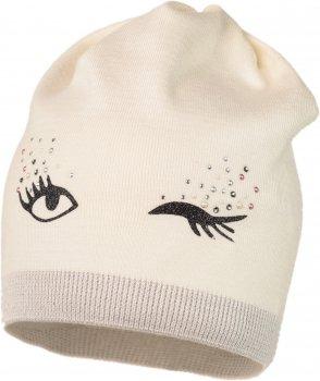 Демисезонная шапка Jamiks FRANELA-1 52 см Кремовая (5903024095494)