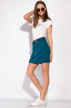 Стильна джинсова спідниця Time of Style 148P201 Темно-бірюзовий