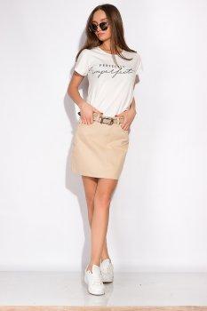 Стильна джинсова спідниця Time of Style 148P201 Бежевий